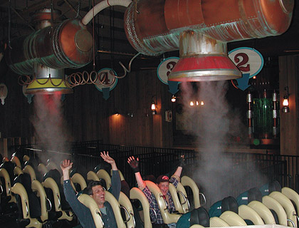 Steam Affects at Ride Launch